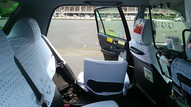 一般タクシー(中型介護)の車内の写真